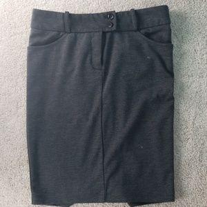 PAPAYA Gray Pencil Skirt
